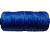 Macrame Cord, Bookbinding Cord, Waxed Thread, Waxed Polyester - Bright Blue