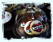 Tattoo GF sugar cookies: mum/dad/love- personalise it. Americana style. Decorated sugar cookies in vanilla, chocolate or citrus.