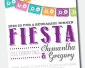 Customizable Fiesta Rehearsal Dinner /// Couples Shower Invitation