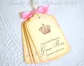 Little Princess Tags - Vintage Inspired Baby Shower Birthday Favor Tags