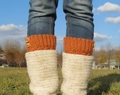 Crochet Boot Cuffs-Boot Socks-Fall Colors-Womens Fall Fashion