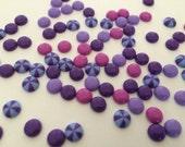 Purples enamel dots 50 pieces