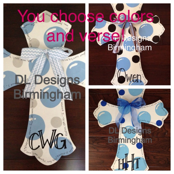 Items similar to custom baby boy cross with psalm 139 for Baby boy hospital door decoration