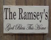 God Bless This Home...Custom wood sign, home decor