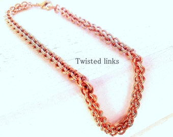 Chainmaille bracelet, copper Jens Pind Linkage