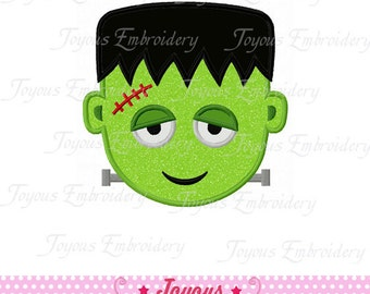 Instant Download Halloween Frankenstein Applique Machine Embroidery Design NO:1401
