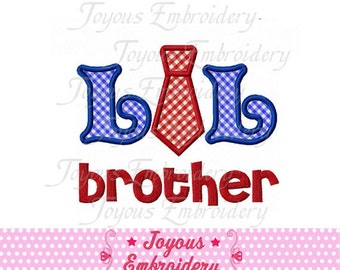 Instant Download Lil Brother  With Tie  Applique Machine Embroidery Design NO:1434