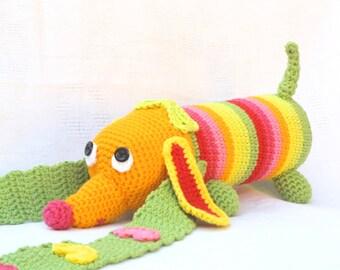 Crochet Dachshund, Kids Water Bottle Cozy, Dog  Water Cozy, Water Bottle Cozy Crochet Pattern,PDF pattern