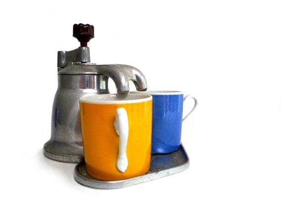 Italian Coffee Maker Aluminum : RESERVED Vintage italian aluminum stovetop coffee maker