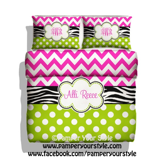Zebra Polka Dot And Chevron Duvet Cover Or Comforter With
