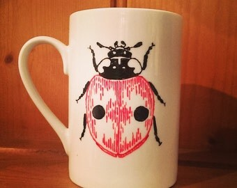 Hand Painted Ladybird Cup