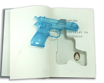 SneakyBooks Recycled Hollow Book Squirt Gun Diversion Safe (squirt gun included)
