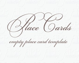 Mtaching Place Card Template