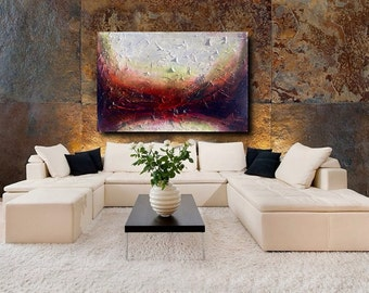 "Large acrylic painting, Abstract wall art, Abstract canvas art, Etsy, 36"" Original Art, Texture, Acrylic abstract,"