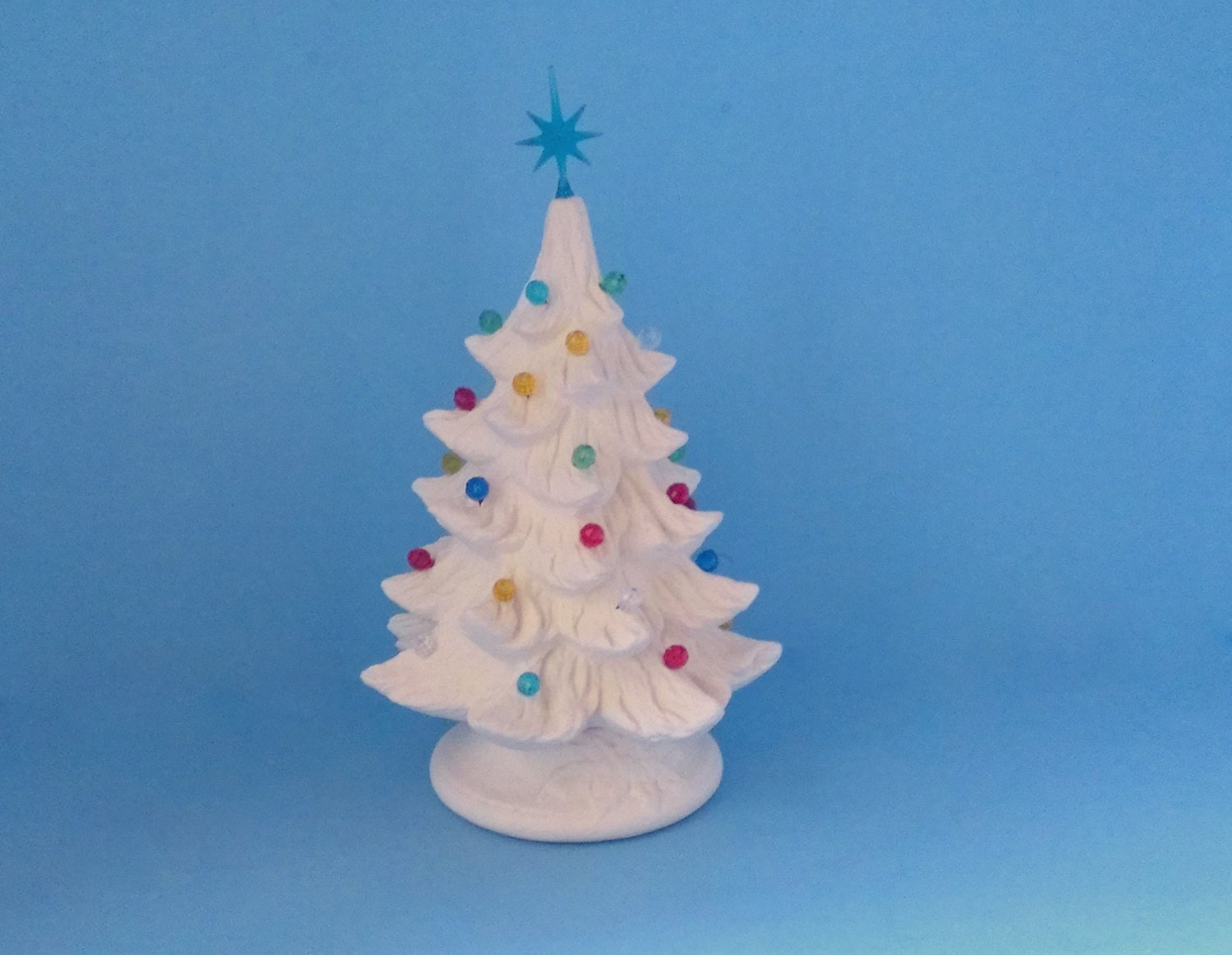 Small Ready To Paint Ceramic Christmas Tree 7 Inches With