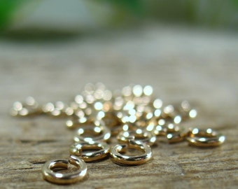 Jump Rings Gold Filled 2mm 20g 25 pcs R1163 - Jewelry Jump Rings, Solder Jump Rings, Gold Jump Rings, Earring Jump Rings, Necklace Jump Ring