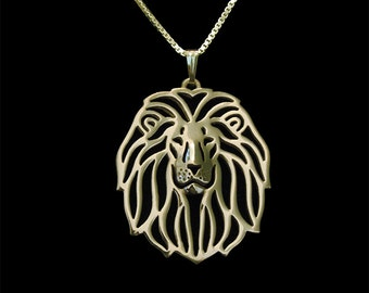 Lion - gold pendant and necklace.
