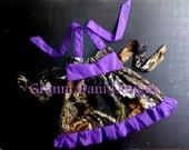 Mossy Oak dress ruffle purple baby girl 6 9 12 18 months 2t 3t 4t 5t halter dress camo