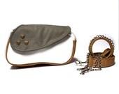 SALE Minimalist leather bag, clutch pouch, waist bag, leather fanny pack, traveling bag, hipster belt, pocket bag, summer fanny pack