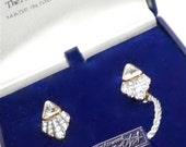 ATTWOOD & SAWYER  Great Britain Vintage  Earrings in original box c1976