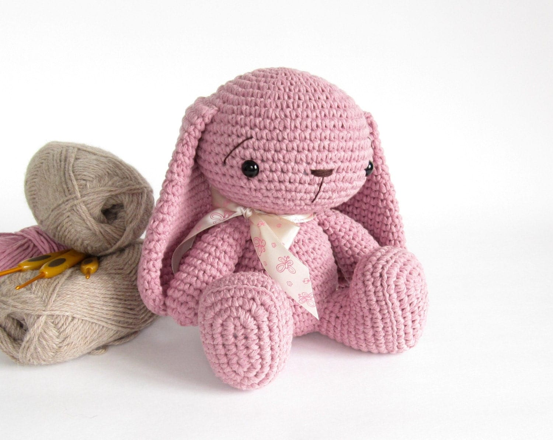 Amigurumi Floppy Ear Bunny : Amigurumi rabbit with floppy ears Cute toy bunny Crochet