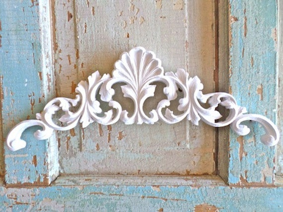 shabby chic victorian carved crest furniture appliques wood. Black Bedroom Furniture Sets. Home Design Ideas