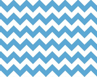 Small Chevron in Medium Blue  by Riley Blake