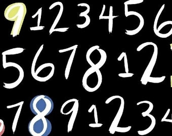 Numbers in Black from 8 Days a Week by Ampersand for Windham Fabrics