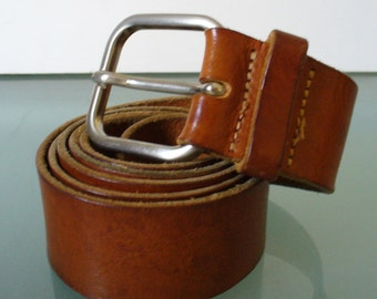 Vintage Made in Italy Joseph Abboud Leather Belt