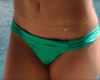 Belly Chain/Gold Body Chain/Bikini Necklace/Gold Bikini Jewelry/Sexy Belly Chain/Waist Chain/Gold Heart Charm