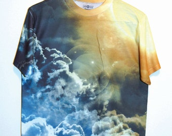 sun light with cloud T-Shirt (133) handmade