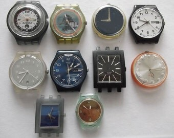 REDUCED Set of 10 Vintage Digital  Watches  non working Watch parts  Supplies Finding  Steampunk  Assemblage