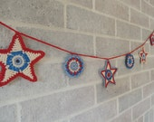 Patriotic Star Garland in Red, White and Blue