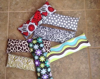 All natural flax seed neck pillow. Hot/cold