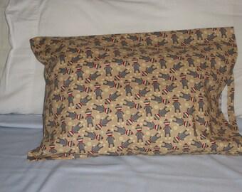 Sock Monkey  - toddler  pillowcase