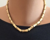 Gold Tone Bamboo Necklace