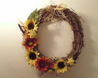 Sunflower Harvest wreath