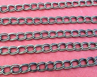 5m Bronze Necklace Chain For Jewelry making 4MMX4MM