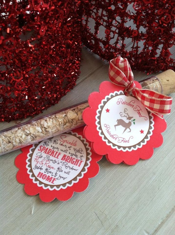 Reindeer Food for Kiddos on Christmas Eve- Christmas Party Favor- Test Tube Christmas Treats