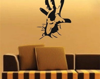 Cool Hand Wall Sticker Decal - Halloween Decals - Teenagers Wall Decals - Stickers For Bedrooms - Kids Bedroom Decal Stickers, g18
