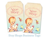 Baby shop Business tags Gift tags Printable tags Digital tags on Digital collage sheet Personalized tags - BABY SHOP TAGS