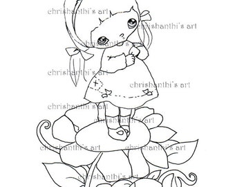 INSTANT DOWNLOAD Digital Digi Stamps..by Chrishanthi's art,I wish..''