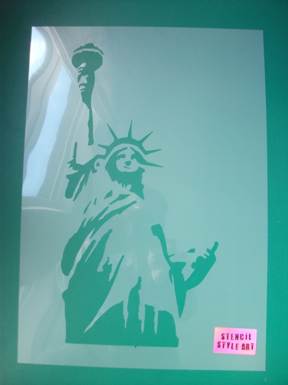statue of liberty art stencil home decor painting stencils zoom