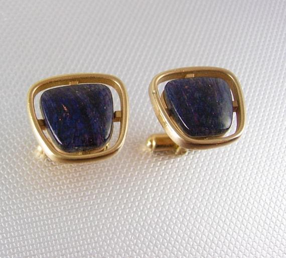 Codis Maya - Gold Plated Lapis Lazuli Bow Cufflinks | Baltzar