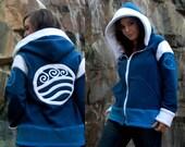 Elemental Water -- Handmade Anti-Pill Fleece Hoodie / Sweatshirt