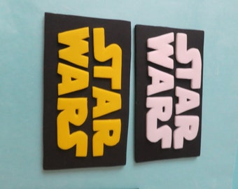 """Star """"Jedi"""" Wars cake Topper Logo (white or yellow letters)"""