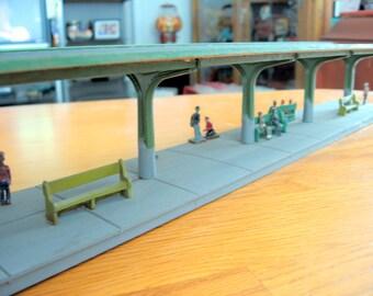 Vintage 1960s Wooden Train Platform HO Scale