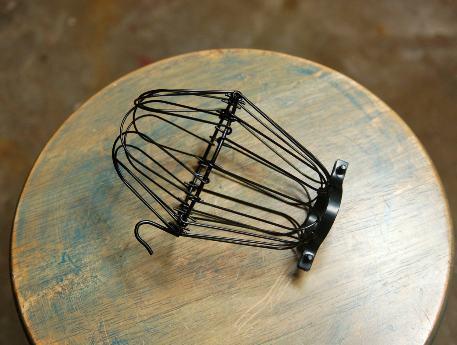 black wire bulb cage clamp on lamp guard for vintage trouble. Black Bedroom Furniture Sets. Home Design Ideas