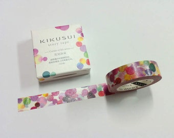 KIKUSUI story tape Masking Tape /15mm x 15M / corner of life series / flowers