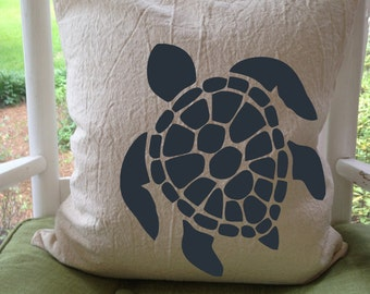 "Coastal Living: SEA TURTLE - Pillow Cover 18"""